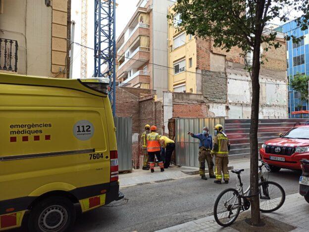 Dos accidents laborals en construccions en menys de 24 hores a l'Hospitalet